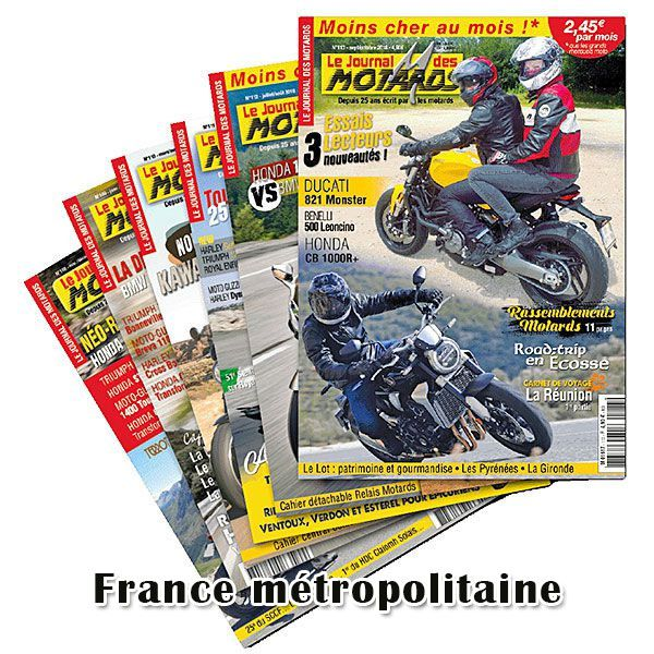 Abonnements 1 an au Journal Des Motards France métropolitaine