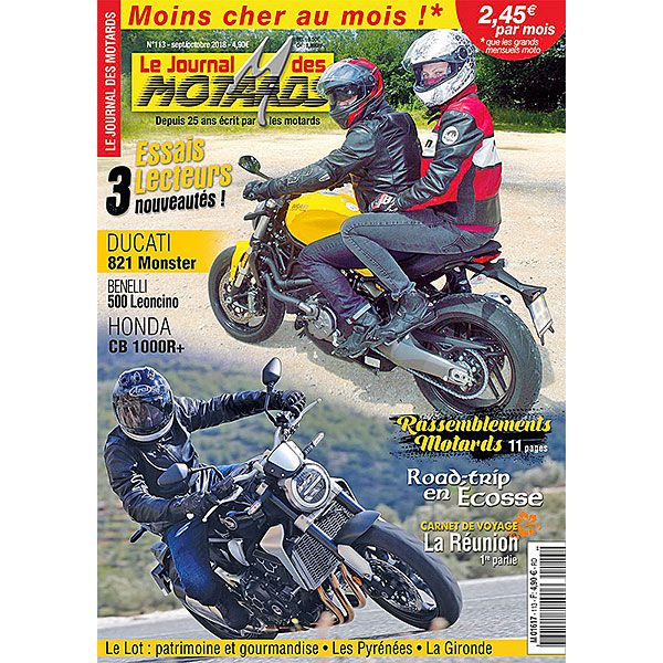 LE JOURNAL DES MOTARDS n°113 – septembre / octobre 2018